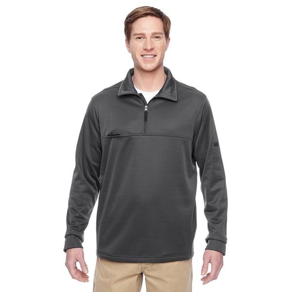 Adult Task Performance Fleece Half-Zip Mens Big and Tall Dark Charcoal Jacket
