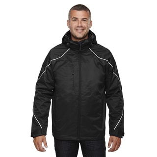 Angle 3-In-1 Men's Big and Tall With Bonded Fleece Liner Black 703 Jacket