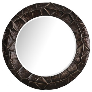 Hobbitholeco Decorative Round Brown 26.5-inch Mirror