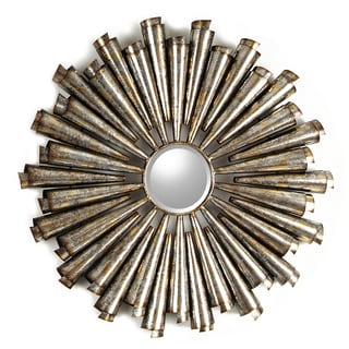 Hobbitholeco Bronze Curled Metal Starburst Accent Mirror