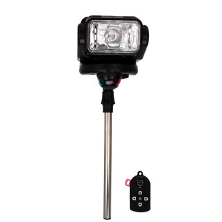 GoLight Gobee Black Stanchion Mount Fixture with Remote