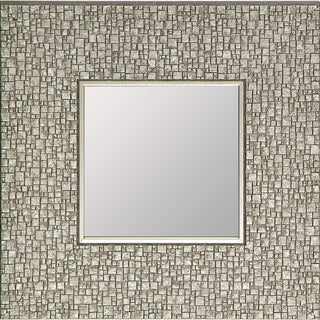 Hobbitholeco Silvertone Mosaic 11.25-inch Square Accent Mirror (Pack of 4) - Silver
