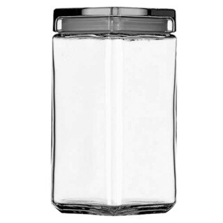 Anchor Hocking 85589R 2 Quart Stackable Glass Jar
