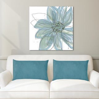 Jan Weiss 'Blue Blossom I' Multicolored Canvas Art