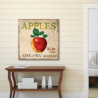 Portfolio Canvas Decor Nicoletta Pagano 'Apples for Sale' Square Stretched and Wrapped Ready-to-hang Canvas Print Wall Art