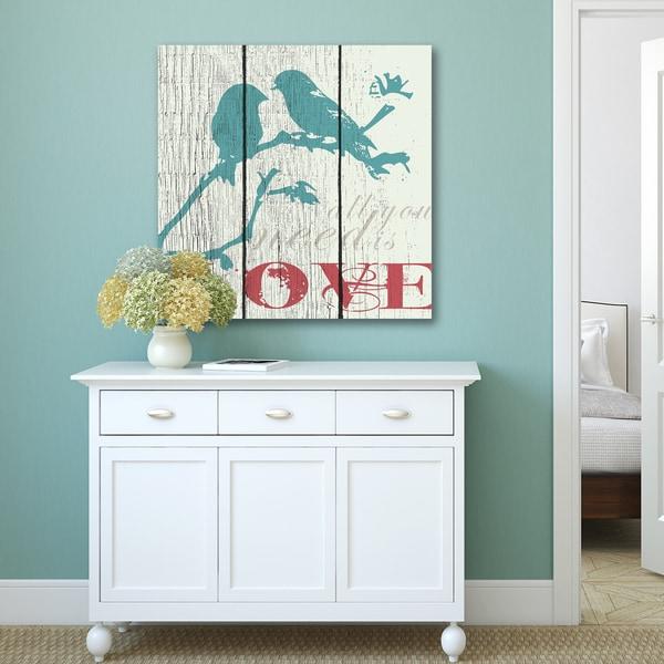 Portfolio Canvas Decor IHD Studio 'All You Need Is Love' Canvas Print Wall Art