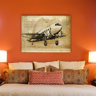 Portfolio Canvas Decor Sidney Paul & Co 'Aero 2' Stretched and Wrapped Ready to Hang Canvas Print Wall Art