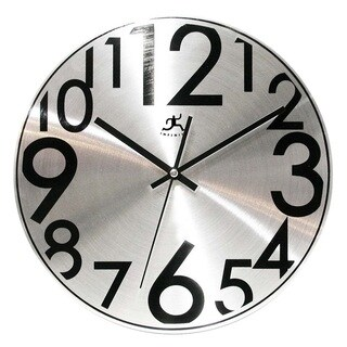 Infinity Instruments 12-inch Silver Twinkle Wall Clock