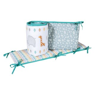 Trend Lab Lullaby Jungle Multicolor Cotton/Polyester Crib Bumpers