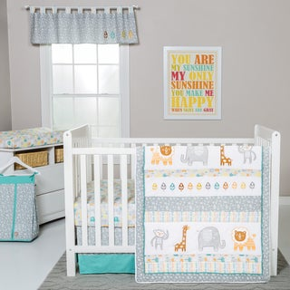 Trend Lab Lullaby Jungle 6-piece Crib Bedding Set