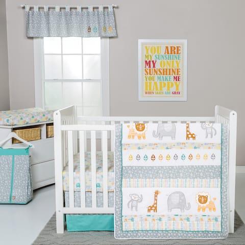 Trend Lab Lullaby Jungle 6-piece Crib Bedding Set