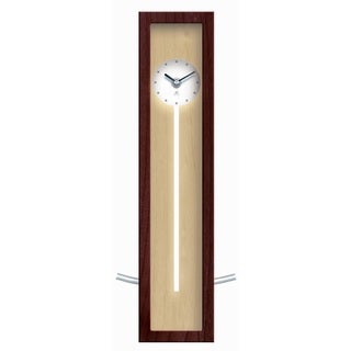 Infinity Instruments Walnut Wood and Aluminum 17-inch High-rise Wall/Table Clock