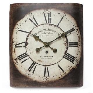 Infinity Instruments Bordeaux Bronze Metal 20-inch Wall Clock
