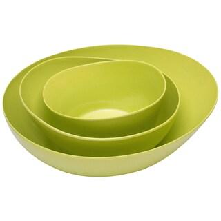 Zak Designs 0204-2470 Kiwi Moso Bamboo Serving Bowl 3 Piece Set
