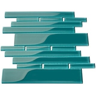 Giorbello Club Dark Teal 7.81-square-foot Subway Tile Sheets (Pack of 11)