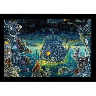 'Night Trawlers II' Framed 24-inch x 36-inch Poster Print