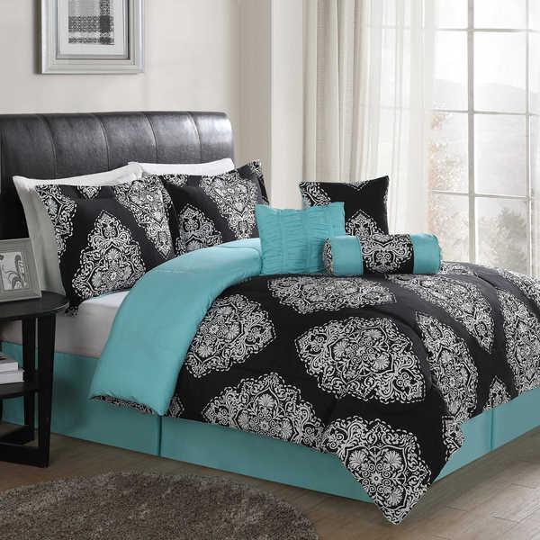 Shop Barba Black 7-piece Comforter Set - Overstock - 12557409