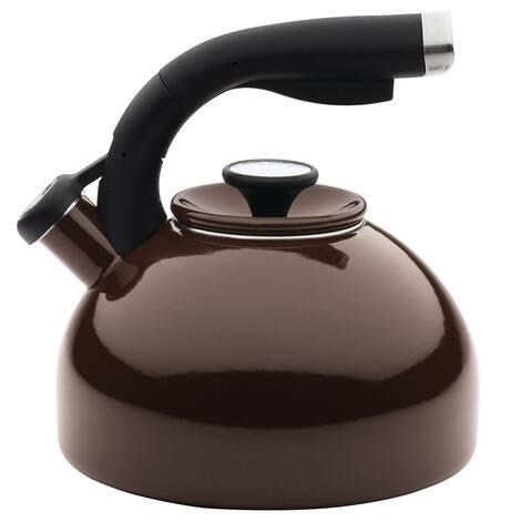 Circulon(r) Enamel on Steel Teakettles 2-Quart Morning Bird Teakettle, Chocolate