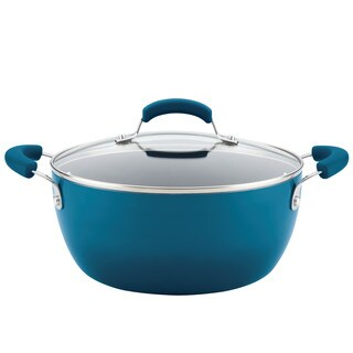 Rachael Ray(r) Hard Enamel Nonstick 5.5-Quart Covered Casserole