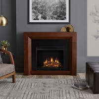Hughes Electric Fireplace Vintage Black Maple by Real Flame