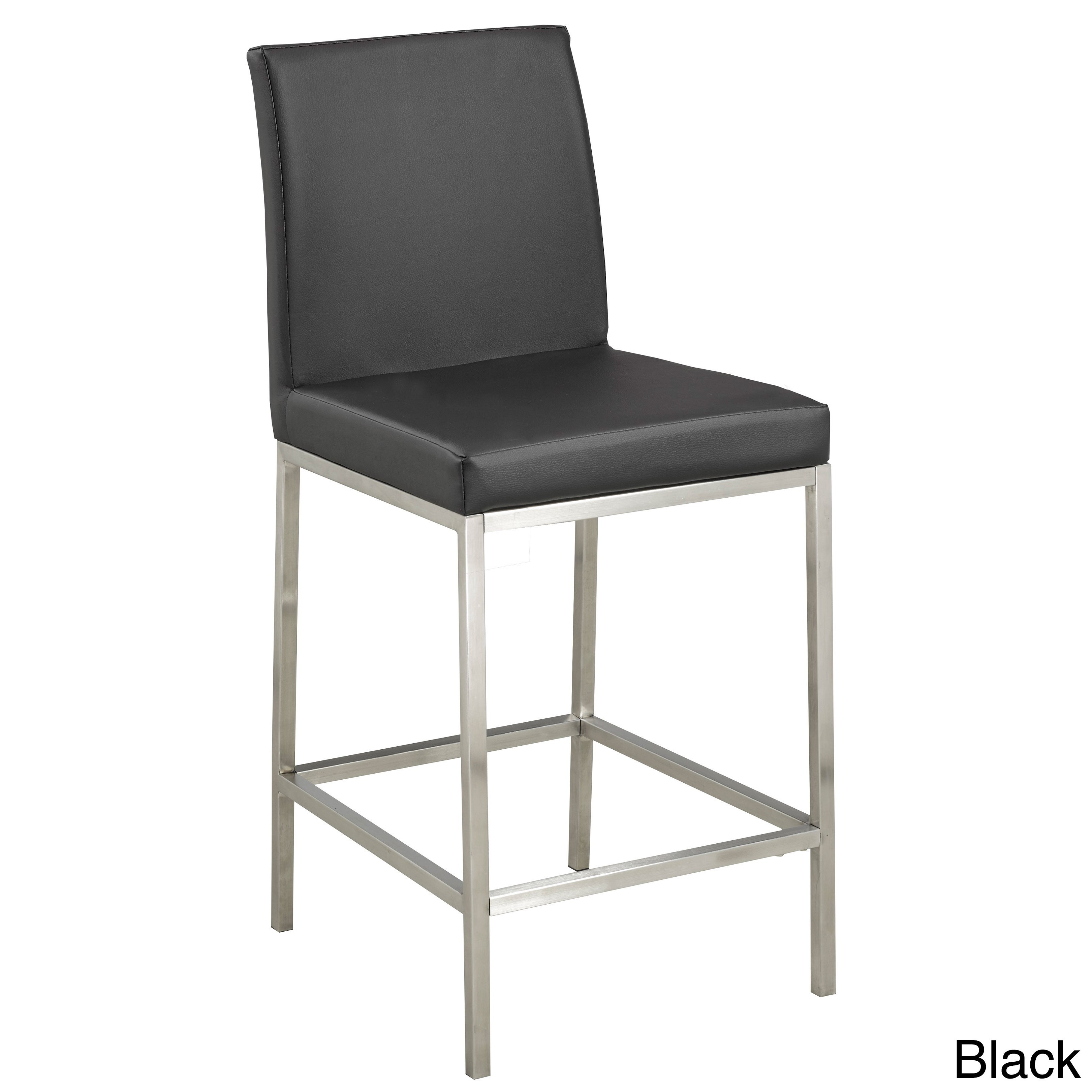 Swell Contemporary Faux Leather Upholstered Armless Counter Stool Cjindustries Chair Design For Home Cjindustriesco