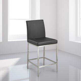 Hail Faux Leather/Chrome Counter Stool