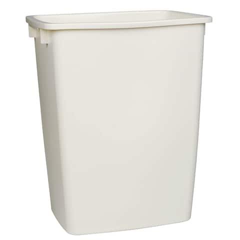 Rubbermaid FG2806TPWHT 36 Quart White Open Wastebasket