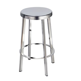 Aurelle Home Bittle Stainless Bar Stool (Set of 2)