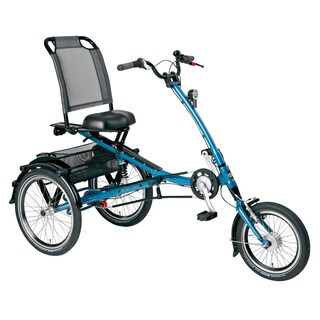 PFIFF Scooter Trike S Adult Tricycle with 16 and 20 inch wheels in Blue
