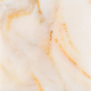 Calacatta Giallo White Marble Polished Beveled Floor Tile
