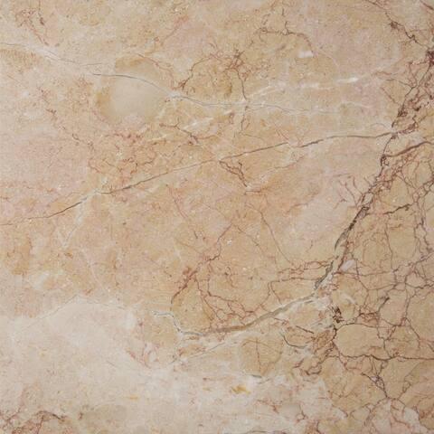Rosalia Pink Marble Polished and Beveled Tile
