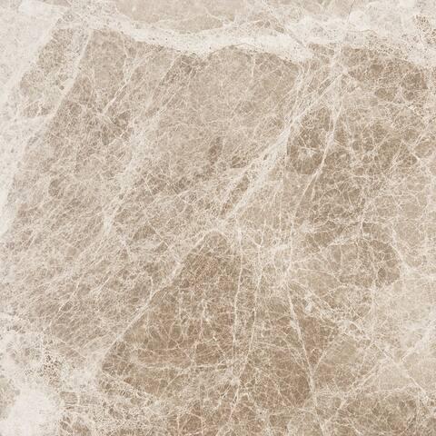 Cedar Emerador Brown Marble 18-inch x 18-inch x 1/2-inch Polished & Beveled Tiles