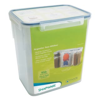 Snapware 1098423 23 Cup Medium Rectangle Storage Container|https://ak1.ostkcdn.com/images/products/12557614/P19358085.jpg?impolicy=medium