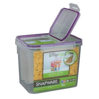 Snapware 1098425 17 Cup Medium Flip Top Rectangle Storage Container