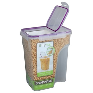 Snapware 1098427 22.8 Cup Jumbo Flip Top Rectangle Cereal Keeper