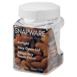 Snapware 1098538 4.4 Cup Square-Grip Small Canister