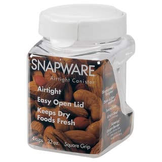 Snapware 1098538 4.4 Cup Square-Grip Small Canister|https://ak1.ostkcdn.com/images/products/12557669/P19358100.jpg?impolicy=medium