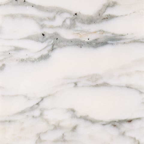 Calacatta Verde White Marble Polished and Beveled Tile