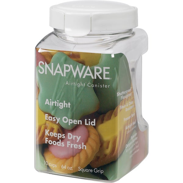 Snapware 1098537 11.1 Cup Square-Grip Medium Canister