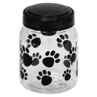 Snapware 1098566 4-1/10 Cup Paw Print Pet Treat Canister