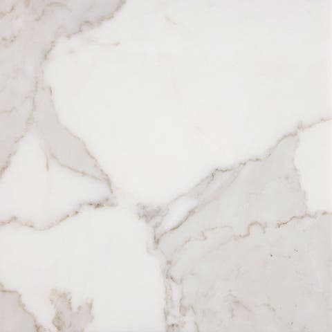 italian Calacatta Gold White Marble 3 x 6 x 3/8-inch Polished Tiles (Case of 50)