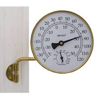 """Conant TH6LFB 4-1/4"""" Brass Weather Station"""