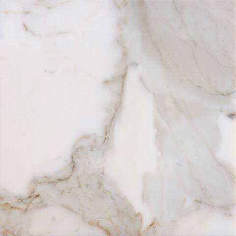 italian Calacatta White Marble Polished Rectangular Tiles