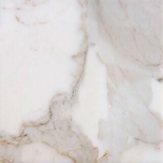 italian Calacatta White Marble Polished Rectangular Tiles