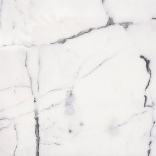 Italian Statuario Venato White and Grey Marble 12-inch x 24-inch Polished Beveled Tile