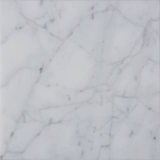 italian Carrara Venato White and Grey Marble 16-inch Square Polished Beveled Tiles
