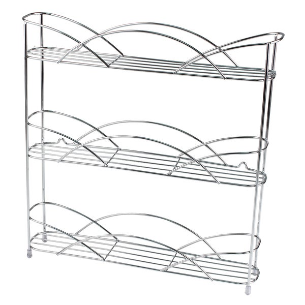 Spectrum Diversified 28870 3-Tier Chrome-countertop Spice Rack