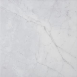 italian Carrara Venato White Marble 18-inch x 18-inch x 3/8-inch Square Polished and Beveled Tiles