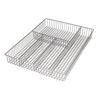 Spectrum Diversified 53177 Large Nickel Grid Flatware Tray