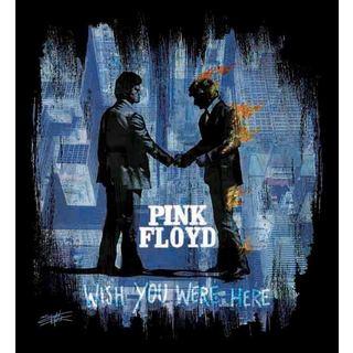 Stephen Fishwick Black and Blue Pink Floyd 'Wish You Were Here' Wall Art